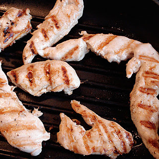 Grilled Garlic Chicken Tenders and Yogurt Dressing