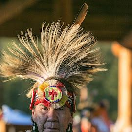 Indian Elder  by Debbie Slocum Lockwood - People Street & Candids