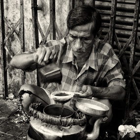 Chai walla by Sudip Chowdhury - People Portraits of Men ( india, people )