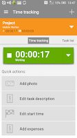 Screenshot of Mobile Worker - Time tracker