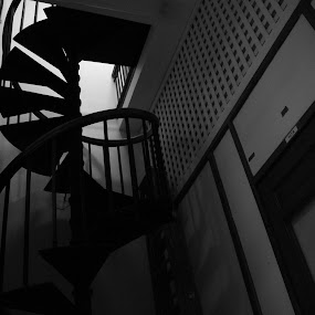 Stairwell by Nick Massar - Buildings & Architecture Other Interior ( stairs, black and white, inside, indoors, nickolasmassar, architecture )