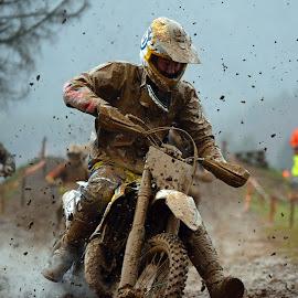 Hard Break Action by Marco Bertamé - Sports & Fitness Motorsports ( mud, bike, rainy, motocross, competition,  )