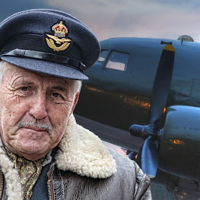 The Old Bomber by Jon Sellers - People Portraits of Men