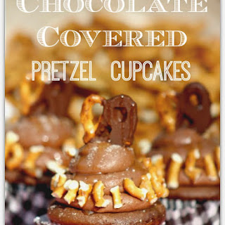 Chocolate Covered Pretzel Cupcakes