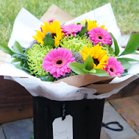 Bright and vibrant hand tied bouquet - The Florist Tunbridge Wells