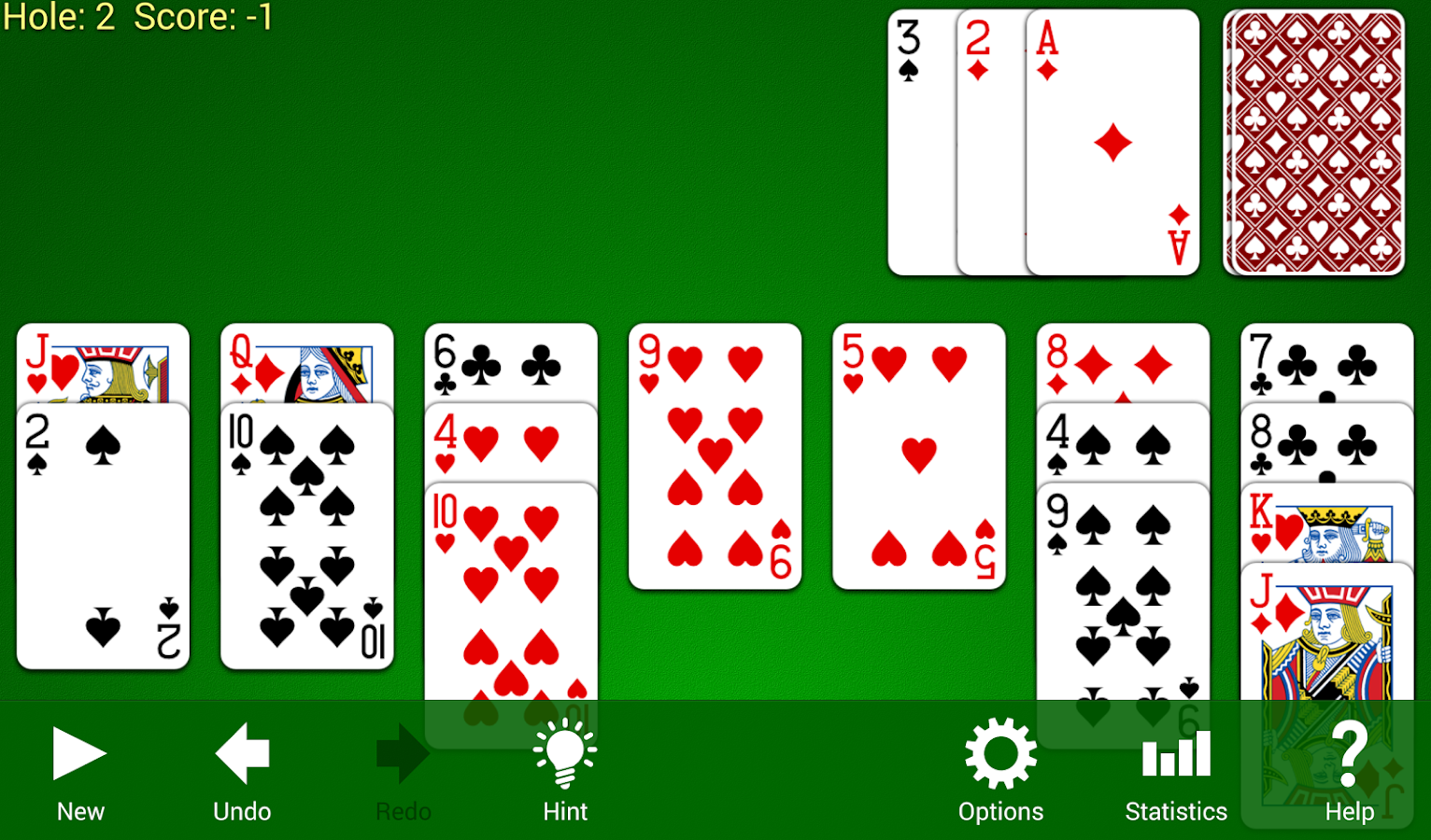 Golf Solitaire Screenshot 2