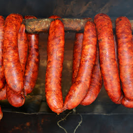 Red Sausages by Hellguz Hellishwinters - Food & Drink Meats & Cheeses