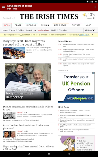 Newspapers of Ireland APK