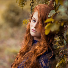 Lauren by Roxanne Wentzel - People Portraits of Women ( ginger, blue, blue eyes, redhead, freckles )