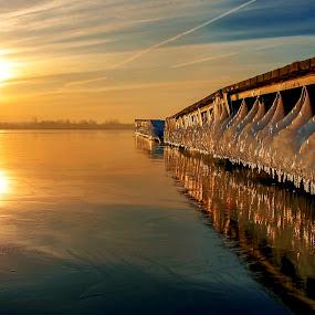 Winter lake by Tomasz Marciniak - Buildings & Architecture Bridges & Suspended Structures (  )