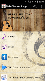 Blake Shelton Songs&Lyrics - screenshot