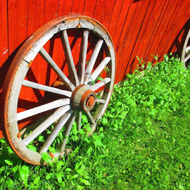 Two old wheels by Jouni Linden - Artistic Objects Antiques