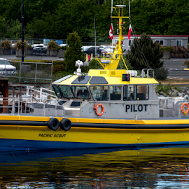 Pilot by Darren Sutherland - Transportation Boats ( breakwater )