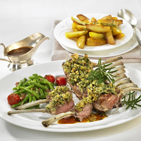 Rack of Lamb with Herb Mustard Crust Recipe | Yummly