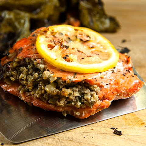 Salmon Wrapped in Grape Leaves
