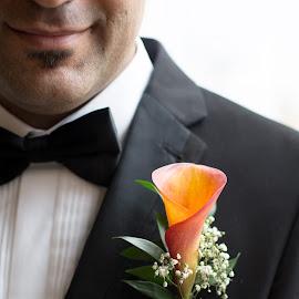 groom by Emma Thompson - Wedding Details ( wedding photography, wedding day, weddings, wedding, wedding photographer, groom, wedding details, flower )