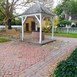 by Christopher Harris - Buildings & Architecture Public & Historical ( fence, walkway, house, well, gazebo )