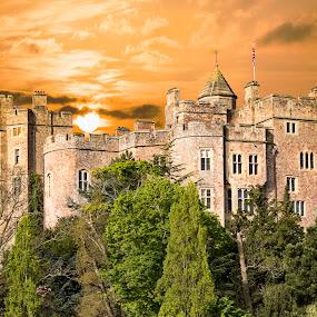 castle by Bea Welsh - Buildings & Architecture Public & Historical ( orange, old, building, sky, castle,  )