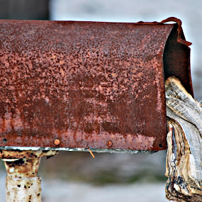 yesterday's mail by Tim Hauser - Abstract Fine Art ( abstract, art, mail box, fine at, rural mail box )