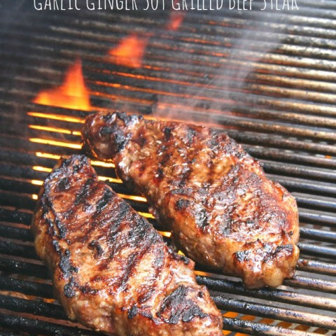 Garlic Ginger Soy Grilled Angus Beef Steak