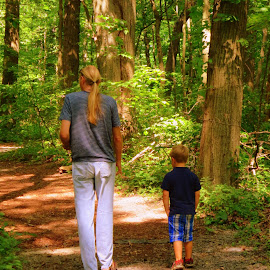 walking in the woods by Victoria Shaudys - People Family ( nature, family, summer, KidsOfSummer )