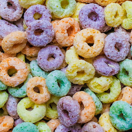 cereal by Dirk Luus - Food & Drink Candy & Dessert ( loops, colorful, round, artistic objects, cereal )