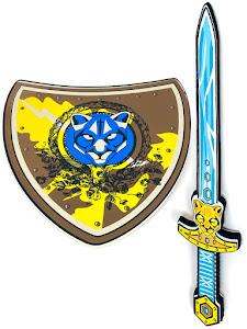 """Игровой набор """"Играем с папой"""", щит и меч, желтый"""