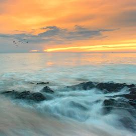 by Ronaldo Edson Reyes - Landscapes Sunsets & Sunrises ( sea, sunrise, beach, sea shore, early morning )