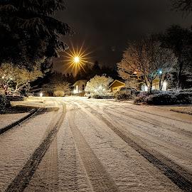 Santa's Landing by Rocky Thompson - Public Holidays Christmas