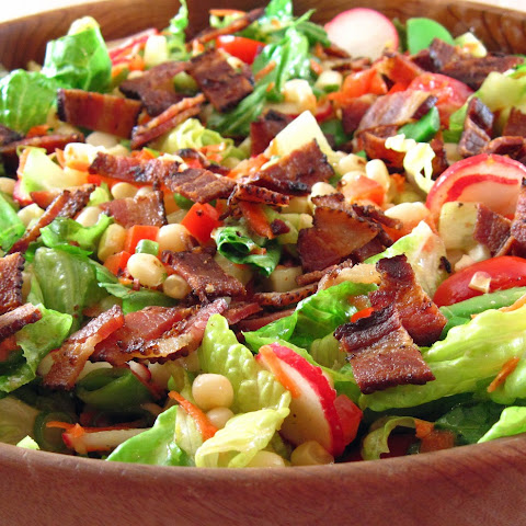 Chop Salad with Corn, Sugar Snap Peas, and Bacon