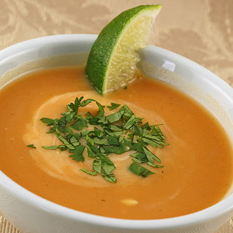 Baked Sweet Potato And Ginger Soup