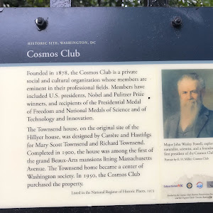 Historic Site, Washington, DCCosmos ClubFounded in 1878, the Cosmos Club is a private social and cultural organization whose members are eminent in their professional fields. Members have included ...