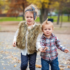 Brother and Sister by Tony Bendele - Babies & Children Child Portraits ( child, children, brother, people, portrait )