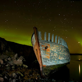 Surrounded by Aurora  by Þorsteinn H. Ingibergsson - Transportation Boats