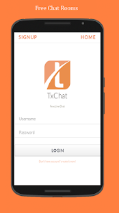 TxChat - free chat rooms - screenshot