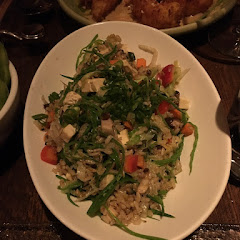 Veggie fried rice with brown rice