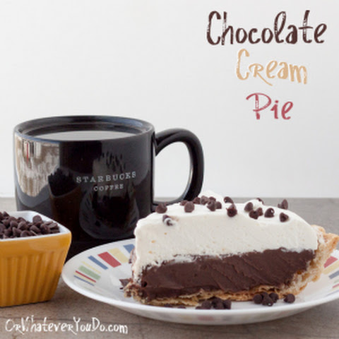 Chocolate Cream Pie {Recipe}