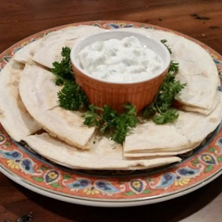 Greek Quesadillas with Tzatziki Sauce
