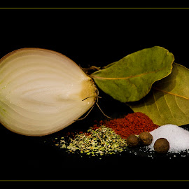 Scent cuisine - goulash spices by Petr Germanič - Food & Drink Ingredients ( indgredients, spice, pepper, onion, salt )