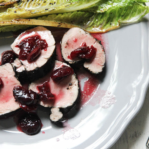 Seared Pork Tenderloin with Cherry Bourbon sauce