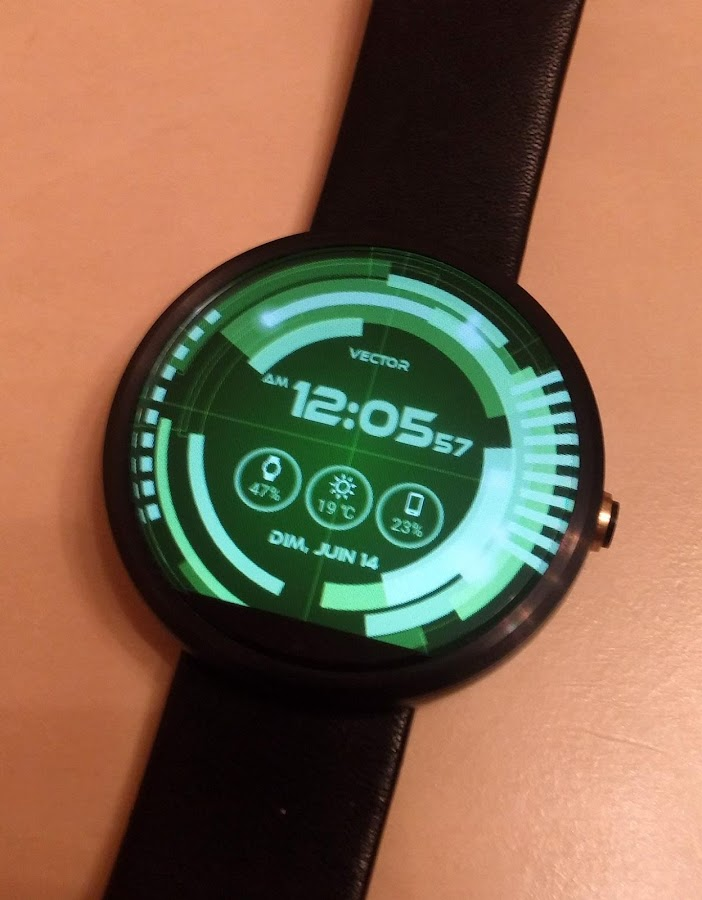 Vector GUI Watch Face Screenshot 4