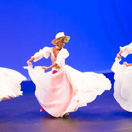 Caribbean Dancers by Karen Johnstone - People Musicians & Entertainers