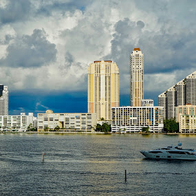 Before rain on Williams Island, FL by Neil Dern - Landscapes Cloud Formations ( water views, clouds, water, landscapes )