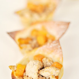 Turkey & Sweet Potato Wonton Cups