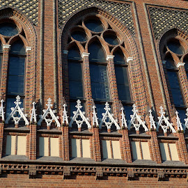 windows by Natalie Spark - Buildings & Architecture Architectural Detail ( brick, beautiful, cathedral, windows, latvia, historic )
