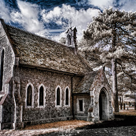 Kirkley Chappell by Adee Tallents - Buildings & Architecture Places of Worship ( infrared, ir photography )