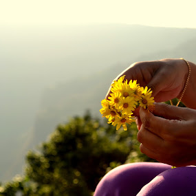 Adding my love to MY NATURE by Ashwini Murthy - People Body Parts