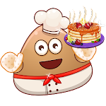 Pou Cooking Hot Pancakes - Cool Games
