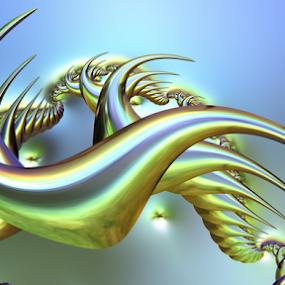 Dragon by Cassy 67 - Illustration Abstract & Patterns ( iridescent, fractal art, digital art, dragon, fractal, digital )