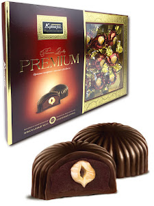 """Конфеты шоколадные """"Премиум"""", бордовый, коробка 240г"""
